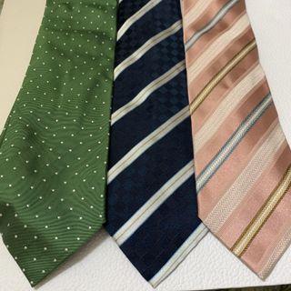 Ermenegildo Zegna Blue Striped Tie , Green Polka Dots Tie , Pink Striped Tie 深藍色間條領呔 $320 綠色波點領呔 $270 粉紅色間條領呔 $320