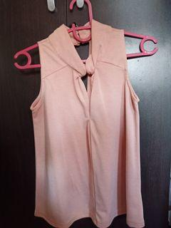 Forme Pink Sleeveless Blouse