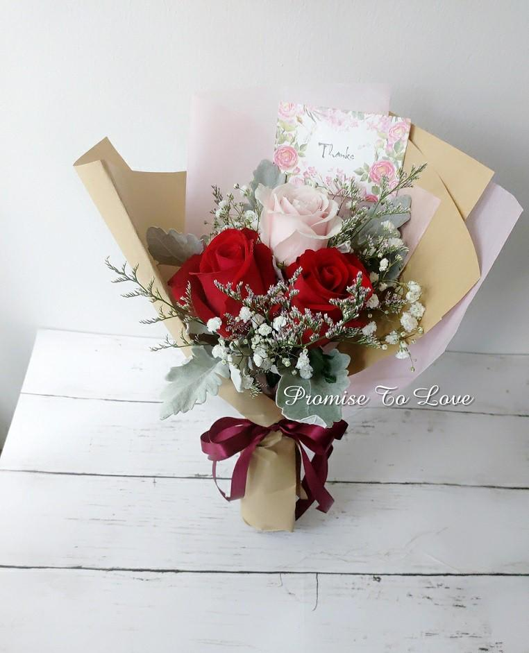 Florist Delivery Fresh Flowers Bouquet For Birthday Anniversary Friendship Gardening Flowers Bouquets On Carousell