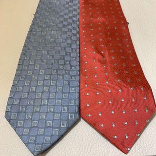 Gianfranco Ferre Blue Tie Red Tie 藍色領呔 $160 紅色領呔 $250