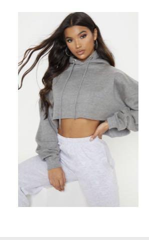 Grey crop jumper