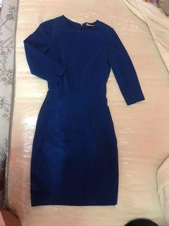 H&M Blue Bodycon Dress