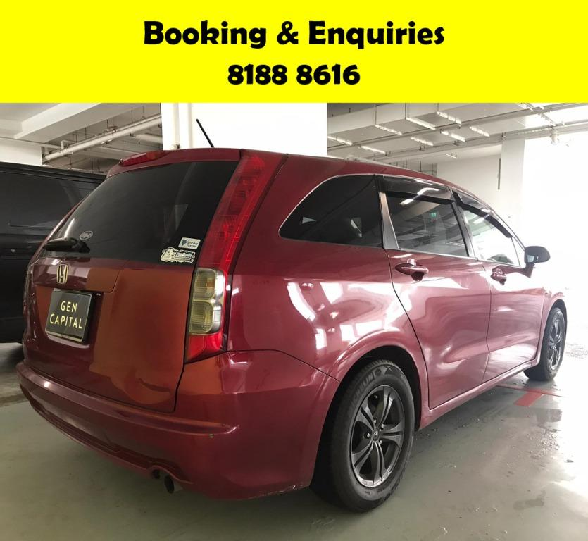 Honda Stream HAPPY SUNDAY~  50% OFF! Lalamove/Grabfood/Parcel Delivery Ready! Cheapest rental in town with just $500 Deposit driveoff immediately.  Whatsapp 8188 8616 now to enjoy special rates!!