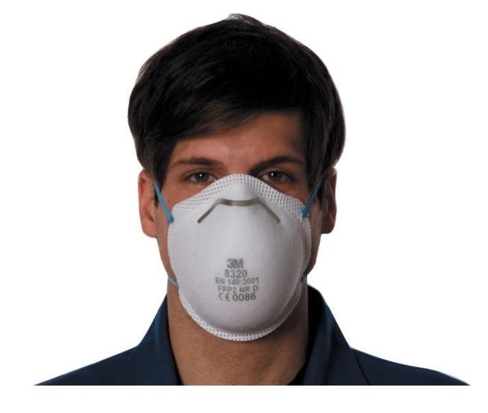 3M™ Cupped Particulate Respirator 8320 N95 P2 Each
