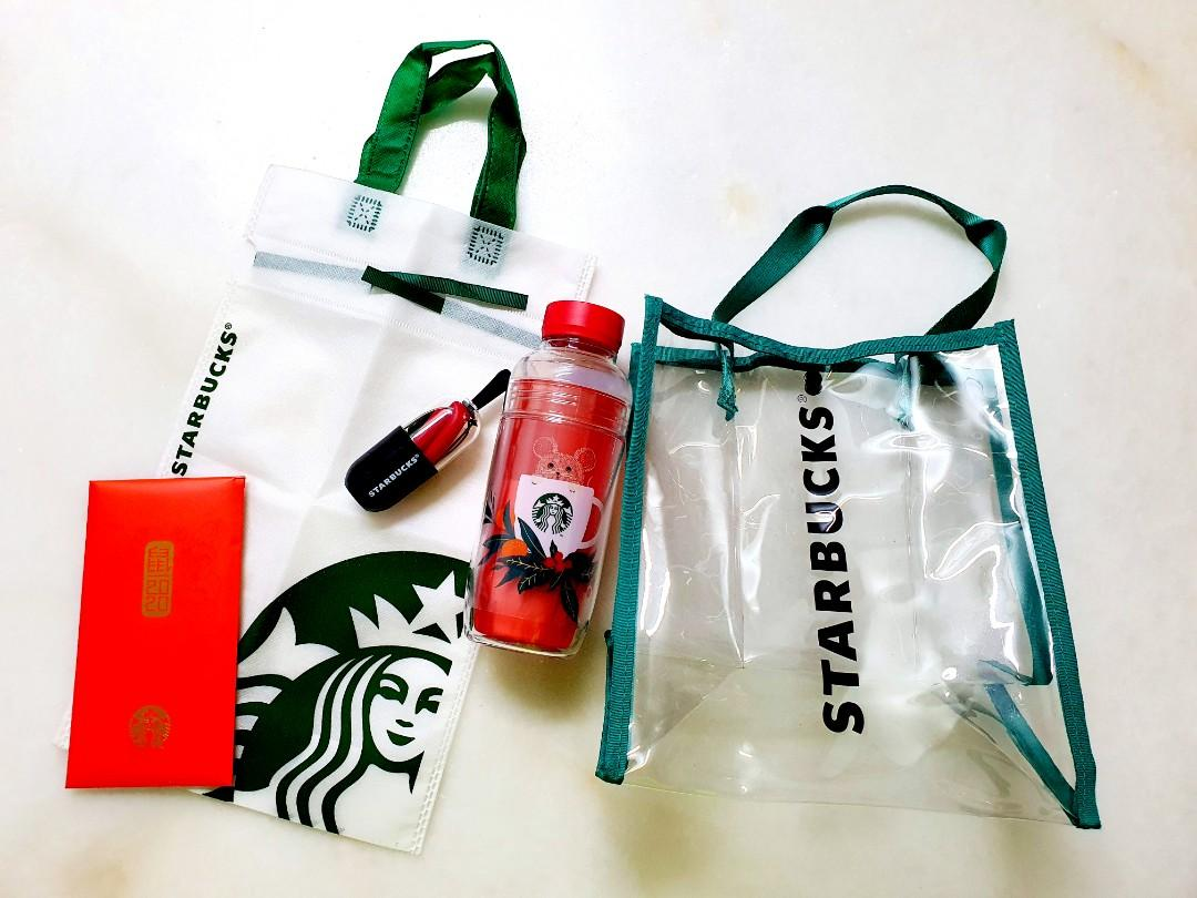 (NEW) Original Starbucks Limited Edition CNY Double Wall Tumbler & Foldable Silicon Straw