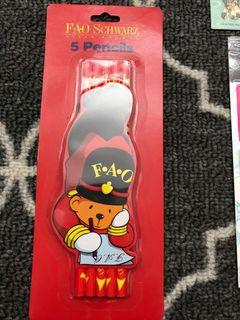 New sealed package of fao schwarz pencils