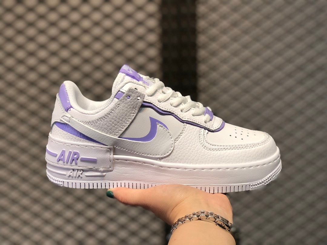 Nike Air Force 1 Shadow Light Light Purple香芋紫 Women S Fashion Shoes Sneakers On Carousell Hues of pinks, purples, blues and greens in materials such as matte plastic, leather and. nike air force 1 shadow light light purple香芋紫