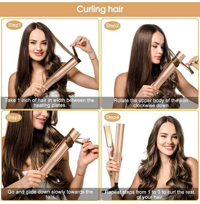 Professional 2 in 1 Hair Straightener and curler | Free shipping | Online Brands Canada