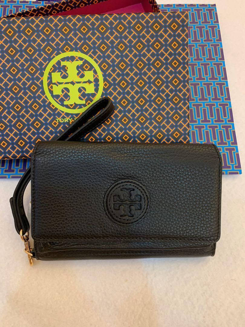 (Raya clearance)Authentic Tory Burch handphone pouch with card n note compartment