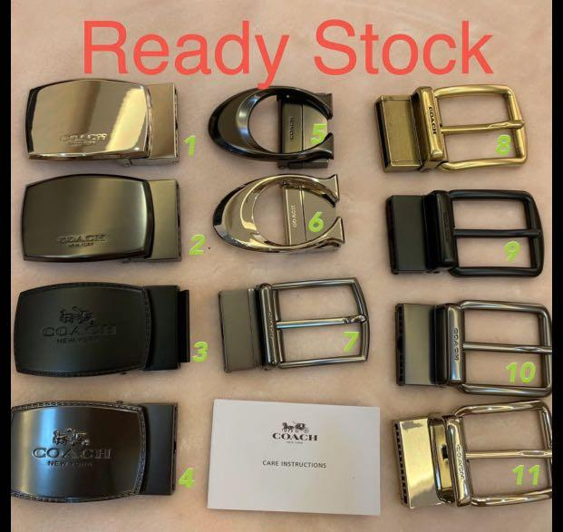 (Raya Promotion)Authentic coach ready stock reversible belt leather gift set father days jjjm