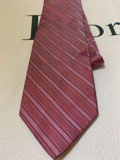 Salvatore Ferragamo Pink / Purple Striped Tie 粉紫色間條領呔