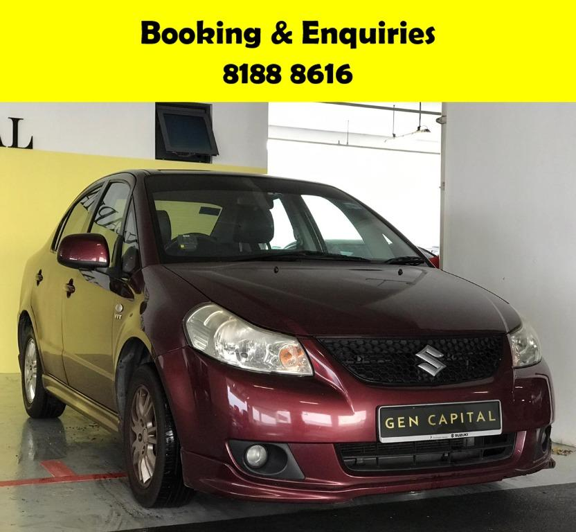 Suzuki SX4 HAPPY SUNDAY~  50% OFF! Lalamove/Grabfood/Parcel Delivery Ready! Cheapest rental in town with just $500 Deposit driveoff immediately.  Whatsapp 8188 8616 now to enjoy special rates!!