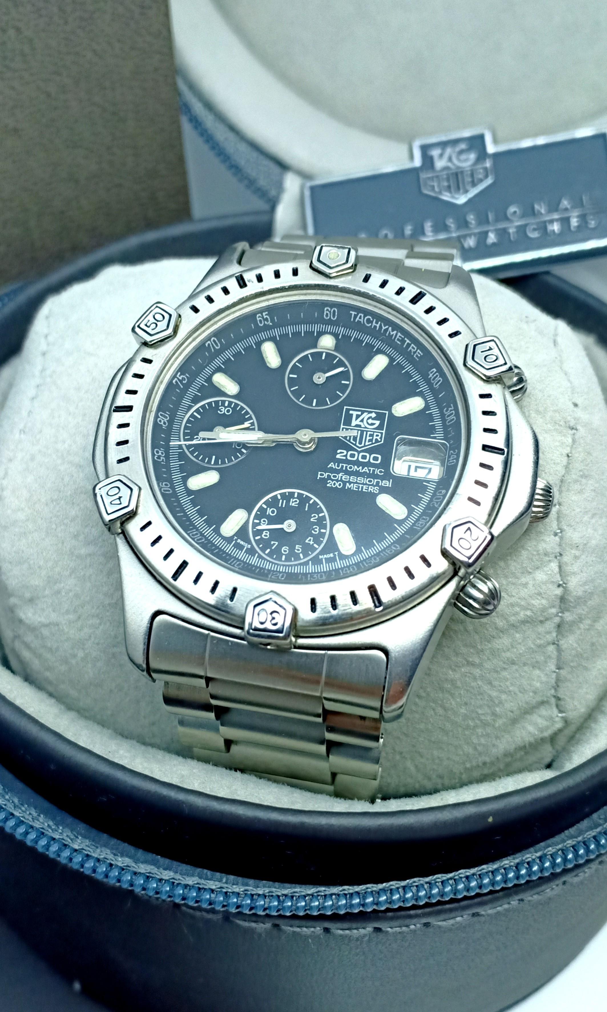 Tag heuer star fish automatic tripple chronograph no tissot omega hamilton zenith ulysse girard jaeger bulgari oris mido longines baume vintage