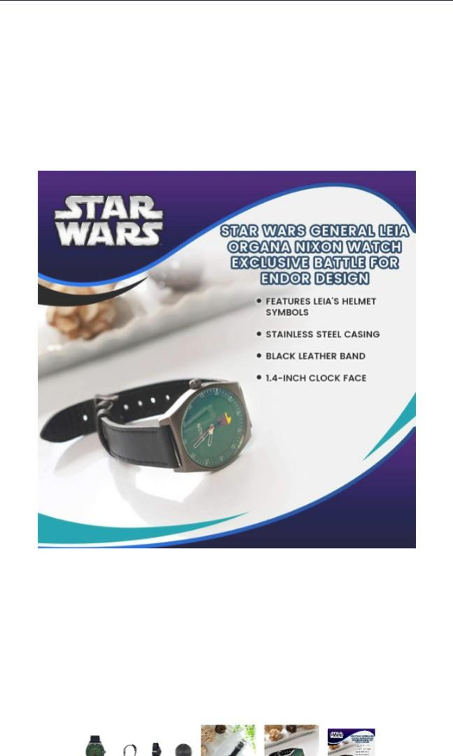 ThinkGeek, Inc. Star Wars General Leia Organa Nixon Watch | Exclusive Princess Leia at The Battle for Endor Design | 1.4-Inch Clock Face