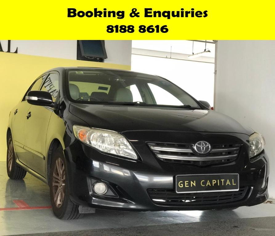 Toyota Altis HAPPY SUNDAY~  50% OFF! Lalamove/Grabfood/Parcel Delivery Ready! Cheapest rental in town with just $500 Deposit driveoff immediately.  Whatsapp 8188 8616 now to enjoy special rates!!