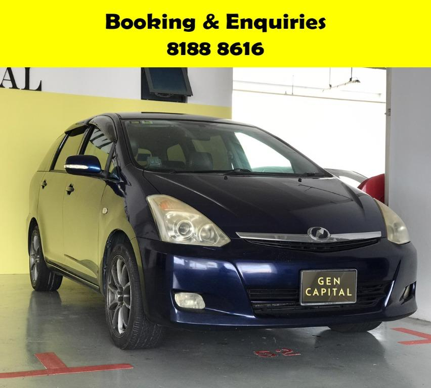 Toyota Wish HAPPY SUNDAY~  50% OFF! Lalamove/Grabfood/Parcel Delivery Ready! Cheapest rental in town with just $500 Deposit driveoff immediately.  Whatsapp 8188 8616 now to enjoy special rates!!