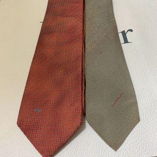 Valentino Red Tie 紅色領呔 $300 , Mario Valentino Grey Tie 灰色領呔 $260
