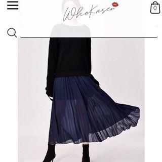 Whokaren 藍精靈百褶裙 XL (試穿無穿出門過) 9.7成新 絕版 官網入