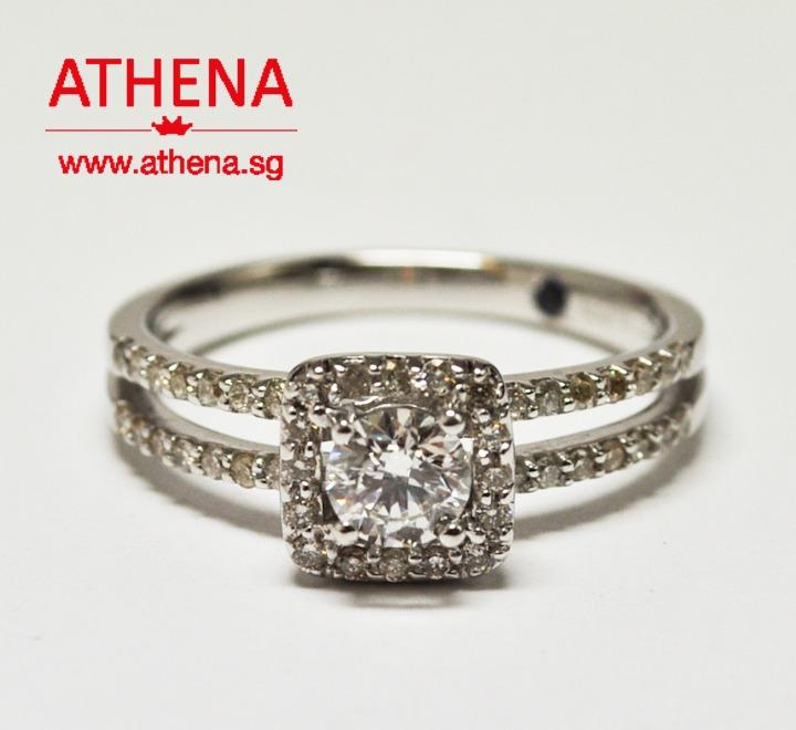 WL_DR_362 JEWELLERY 18K WG DIAMOND RING ( FROM GOLD HEART JEWELLERY ) D1-0.34CTS ( F/VVS2 ) D44-0.31CTS 3.66G [ GIA REPORT CERT. ]