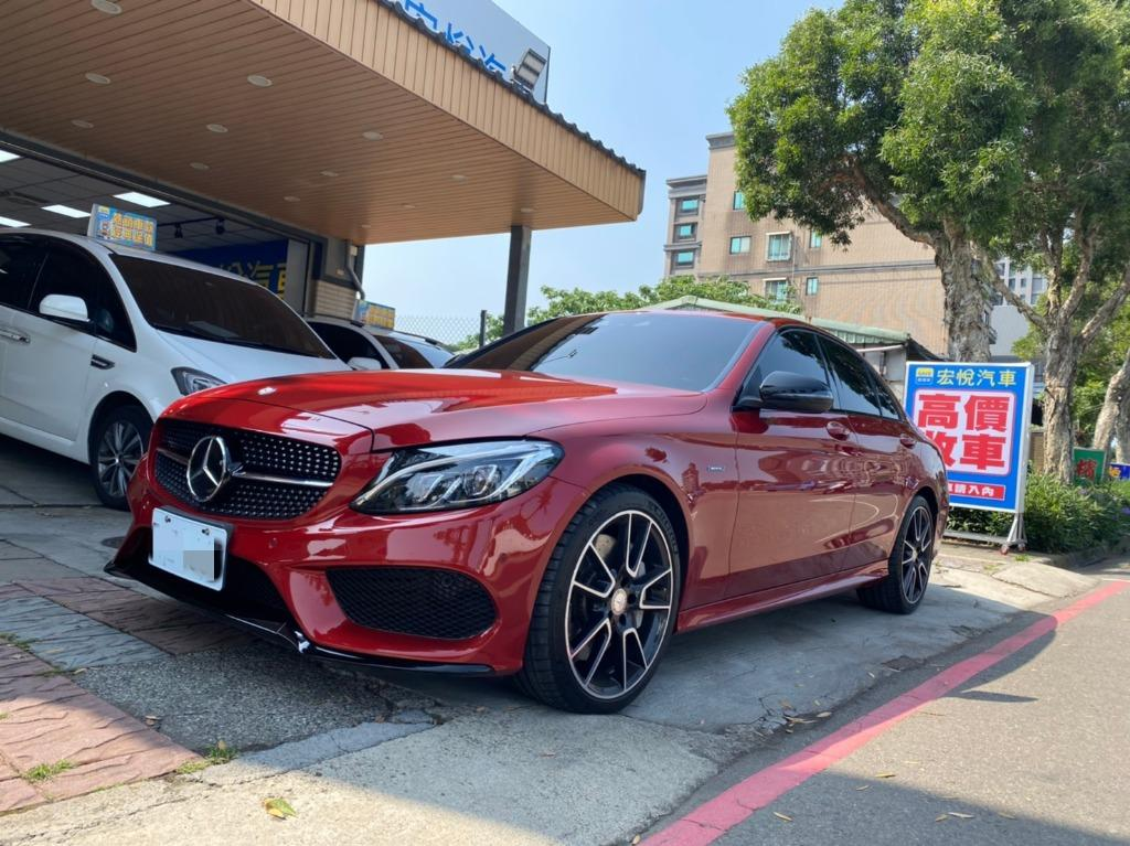 2016年 Mercedes-Benz C450 4MATIC 日規 紅色3.0