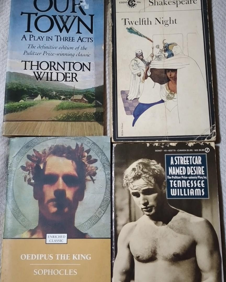 4 Plays Book Set- Shakespeare, Sophocles, Tennessee Williams, Thornton Wilder