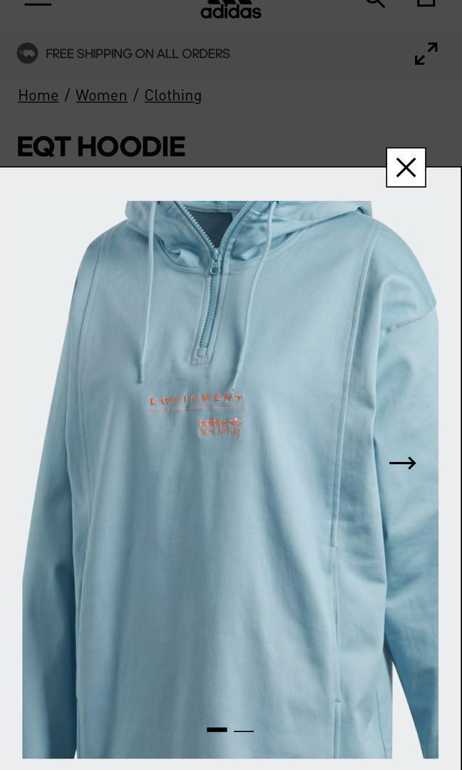 Adidas EQT hoodie, Sports, Sports