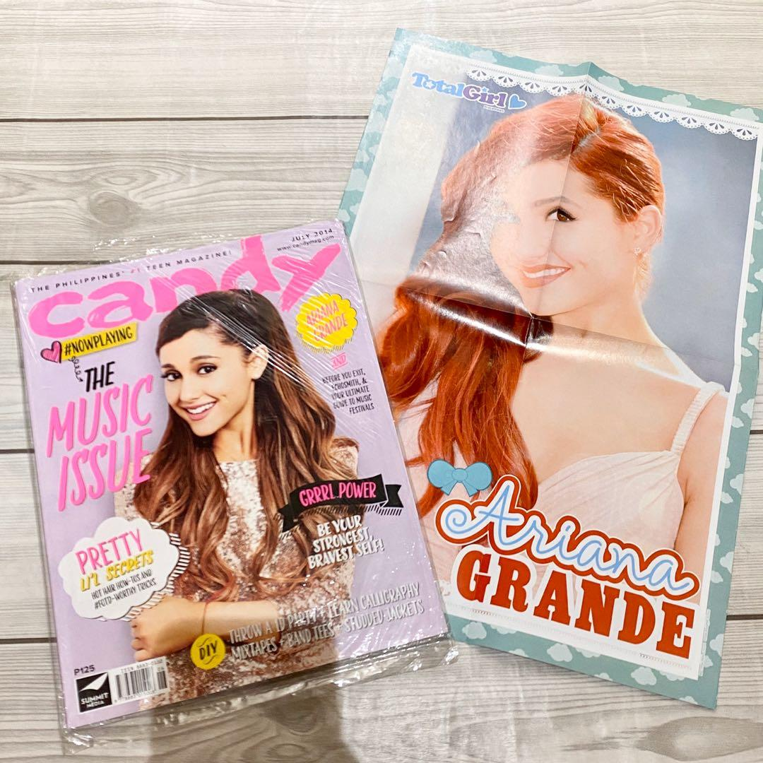 Ariana grande poster and magazine bundle candy magazine total girl magazine poster likenew condition