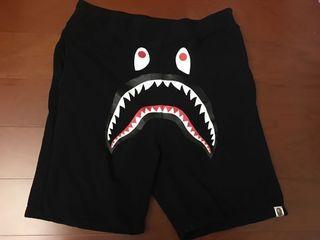 Bape ape 鯊魚 短褲 黑色