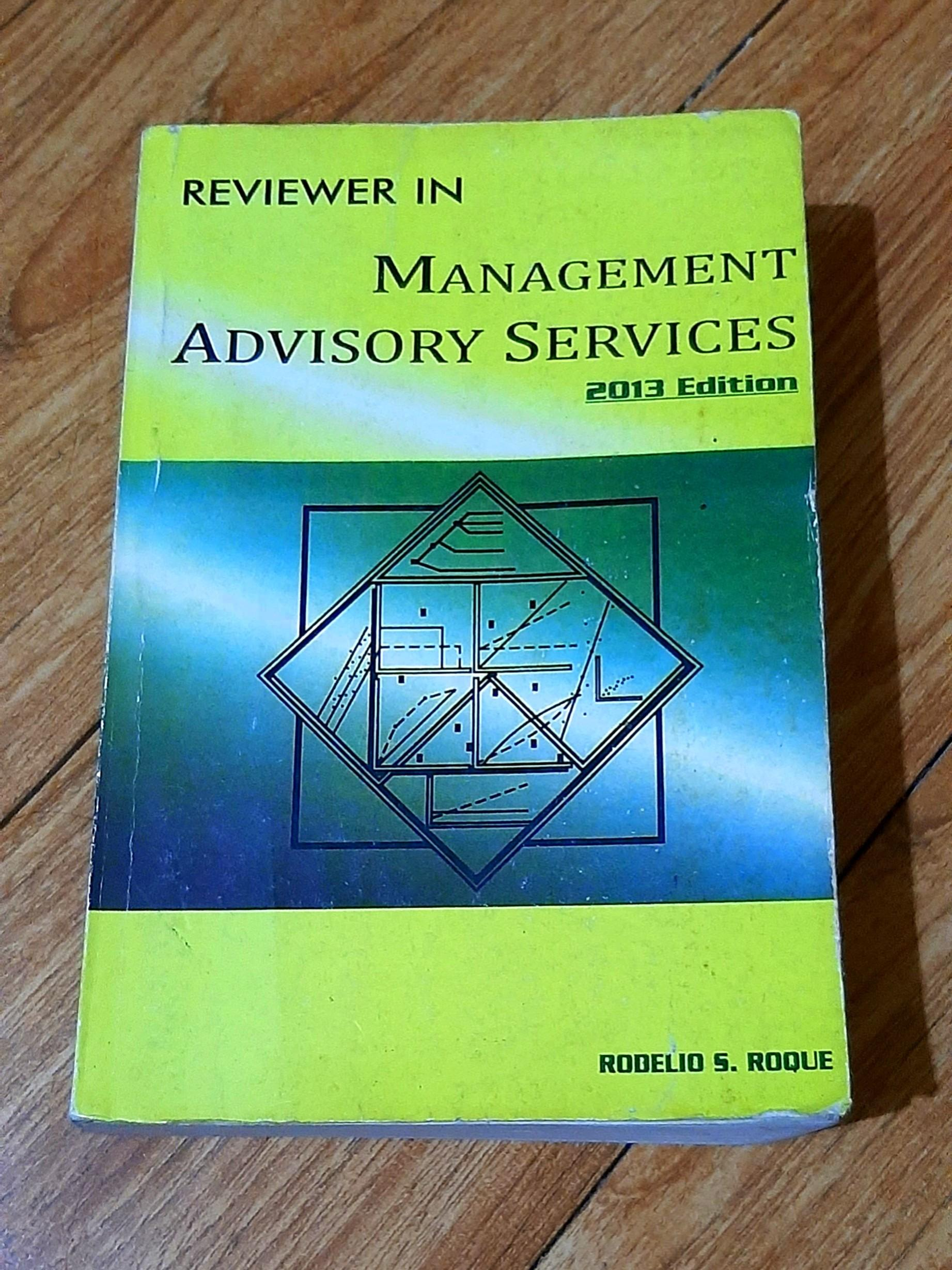 [CPA Reviewer] Reviewer in Management Advisory Services by Roque 2013 edition