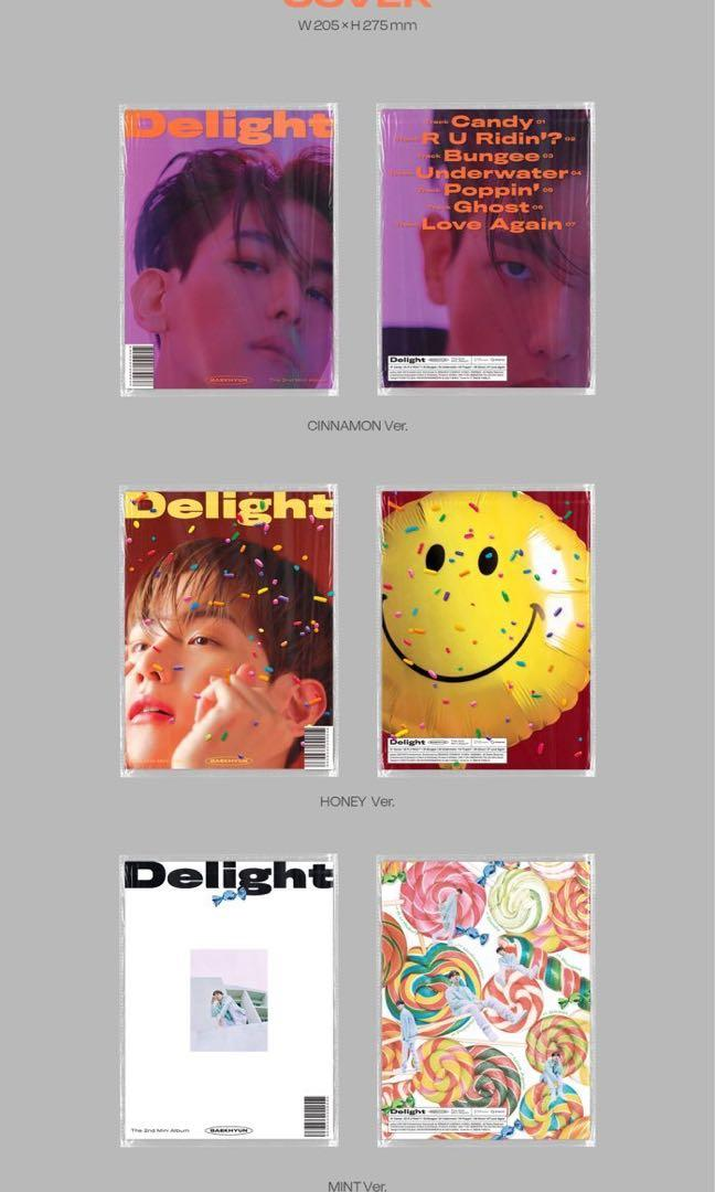 LOOSE ITEM. EXO Baekhyun 'Delight' Mini Album LOOSE ITEM