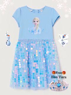 Frozen II Elsa Dress with Sequins