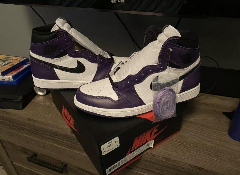 Jordan 1 court purple men