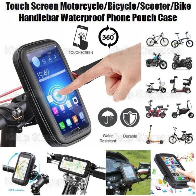 Durable Waterproof Phone Case Bicycle Motorcycle Phone Holder Bike Mount Bag