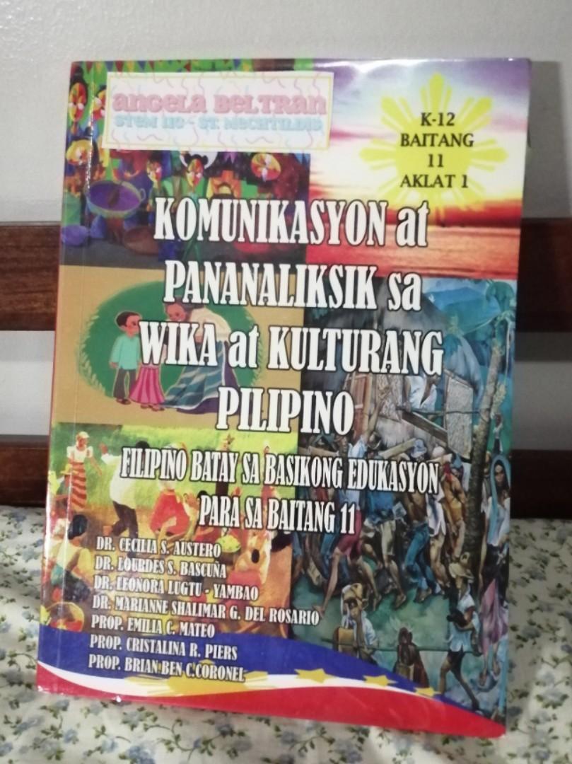 Komunikasyon at Pananaliksik sa Wika at Kulturang Pilipino: Filipino Batay sa Basikong Edukasyon para sa Baitang 11
