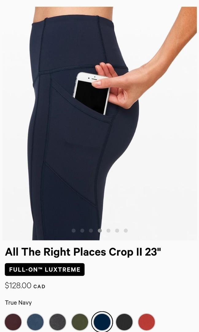 """Lulu Lemon All the Right Places Crop II 23"""" size 8"""