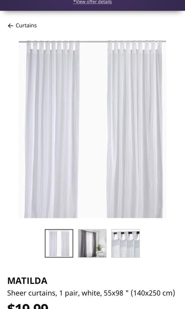 Matilda IKEA curtains (3 pairs)
