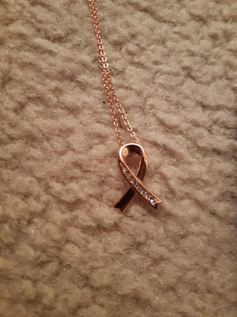 Nic & Syd Swarovski Accented Ribbon Pendant Necklace
