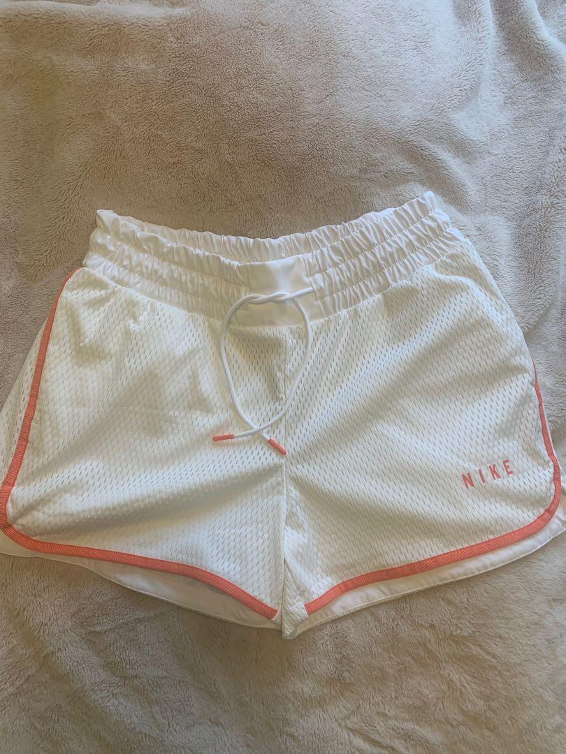Nike women's white gym shorts- size M (new with tags)