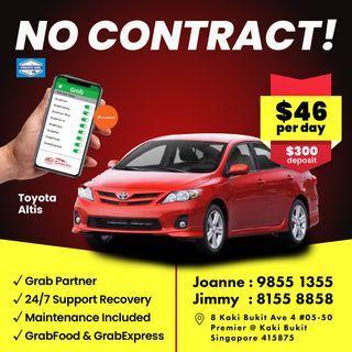 No Contract - Toyota Altis                              (Grab Fleet Partner PHV Car Rental)