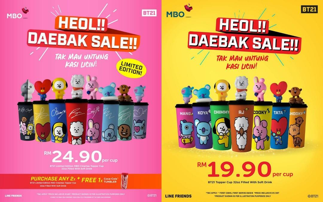[PREORDER] MBO Malaysia x BT21 Topper Cups Shopping Service (6/3/20-Sold Out) > Daebak Sale!