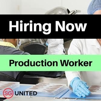 Production Worker (Full time/Part Time/Temp) #SGUnitedJobs
