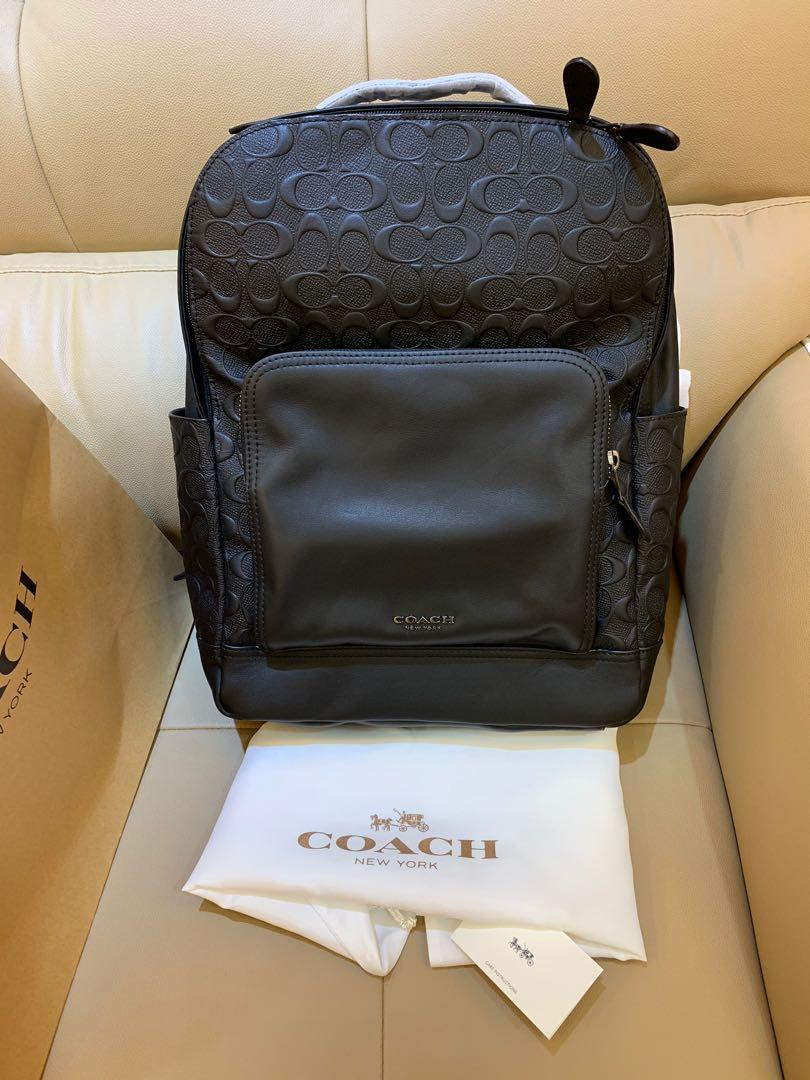 Ready Stock Authentic 50719 backpack monogram in black backpack graham backpack in signature leather