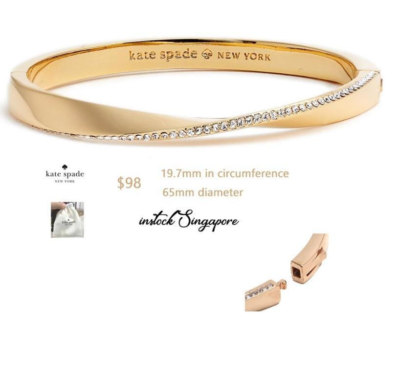 READY STOCK AUTHENTIC NEW  Kate Spade New York Women's Bracelet do the twist pave bangle bracelet rhinestone