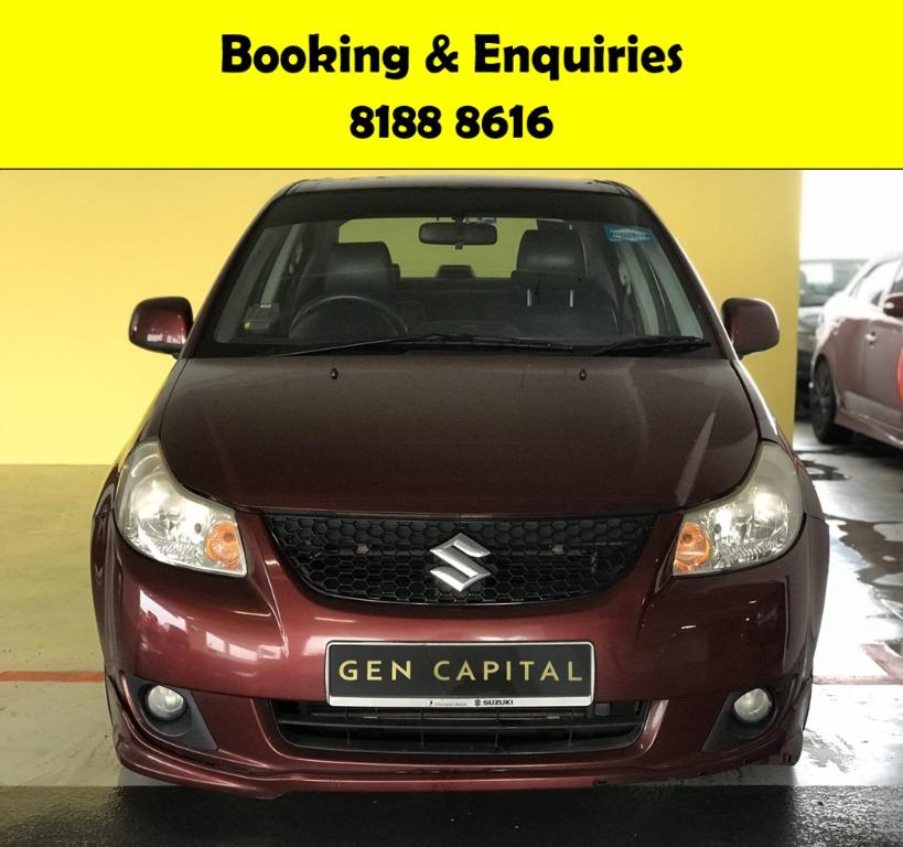 Suzuki SX4 CIRCUIT BREAKER PERIOD ONLY!! GRAB A CAR NOW TO ENJOY THE LOWEST RENTAL! $500 DEPOSIT DRIVEAWAY! WHATSAPP 8188 8616 FOR MORE INFO!