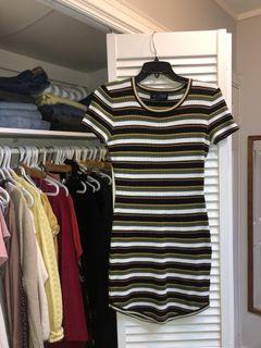 UO striped T shirt dress