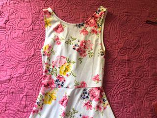 V-back floral dress