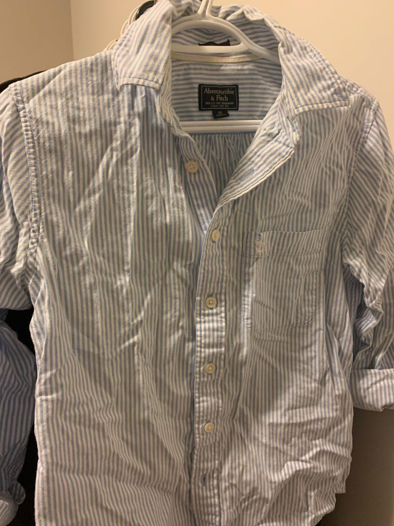 xs size blue shirt from Abercrombie & fitch