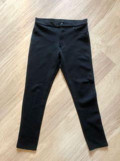 黑色彈性窄腳褲 Black Slim Trousers