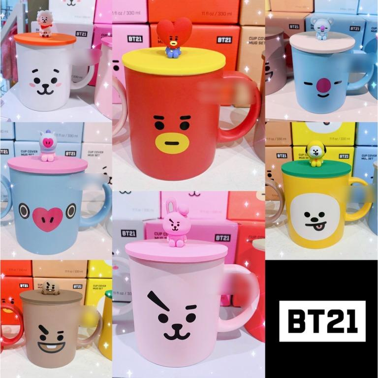 BTS BT21 Official Authentic Goods CUP COVER MUG SET