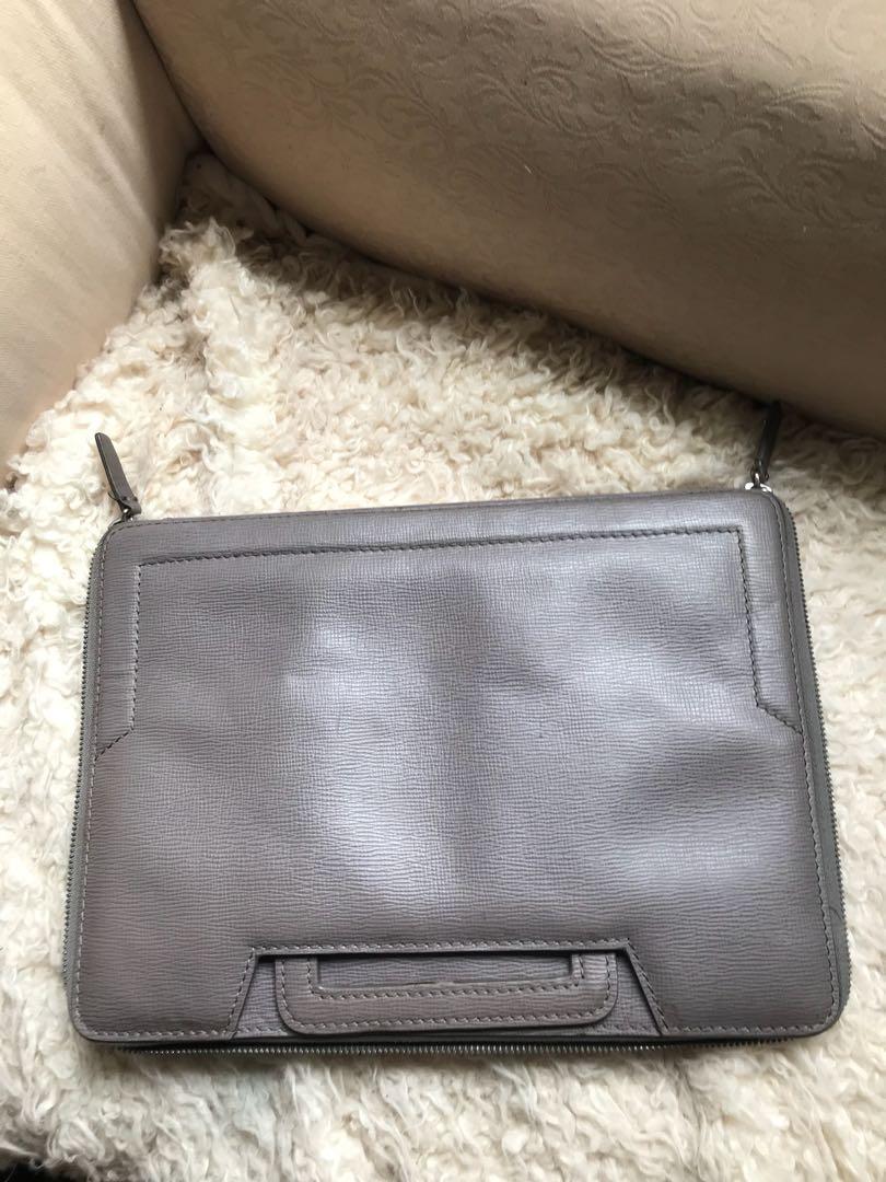 calvin klein ck leather bag tas kulit asli document bag laptop bag case asli original authentic #thr2020